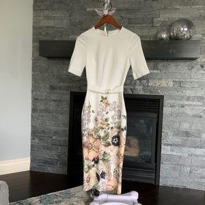 Ted Baker Layli  pencil dress sz 1 NWOT